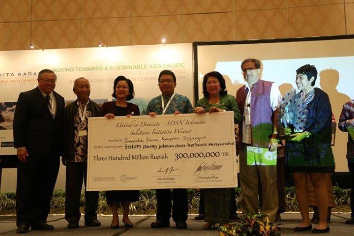 Bojonegoro Sustainable Development Inisiative award