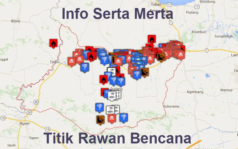Peta Rawan Bencana Bojonegoro