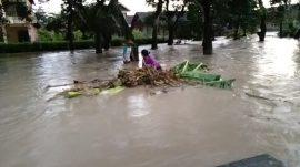 BPBD Kerugian Banjir Bandang Gondang Rp18 juta
